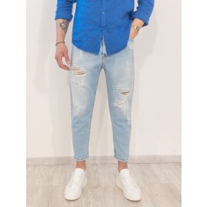 Jeans relaxed fit con strappi