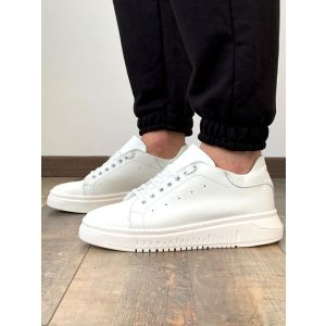 Sneakers pelle total white