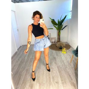 Shorts denim ampio